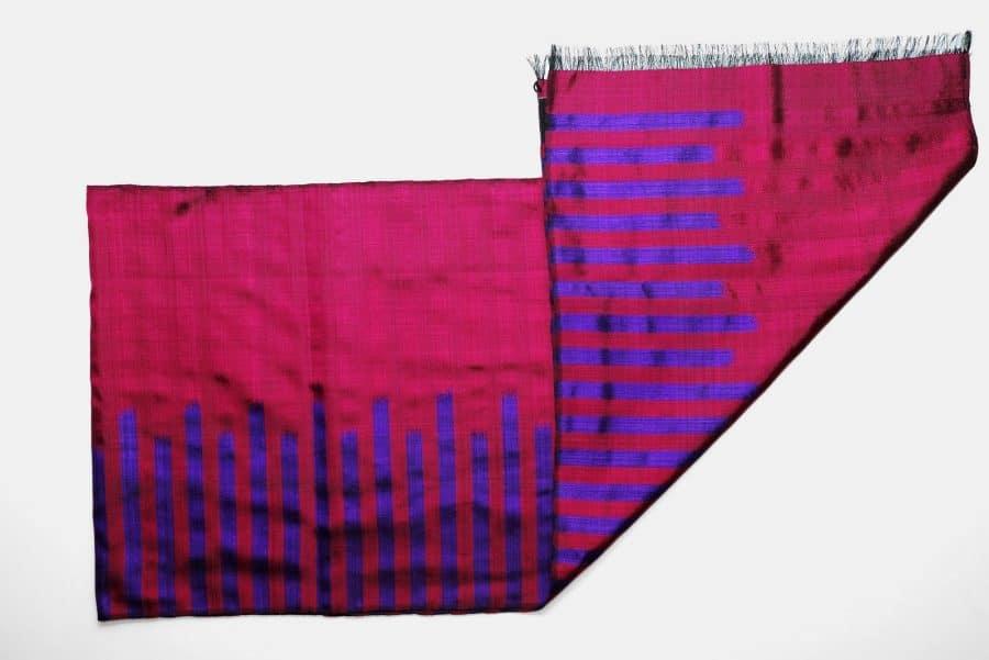 Handmade Silk Scarf Magenta Purple Natural Dyes