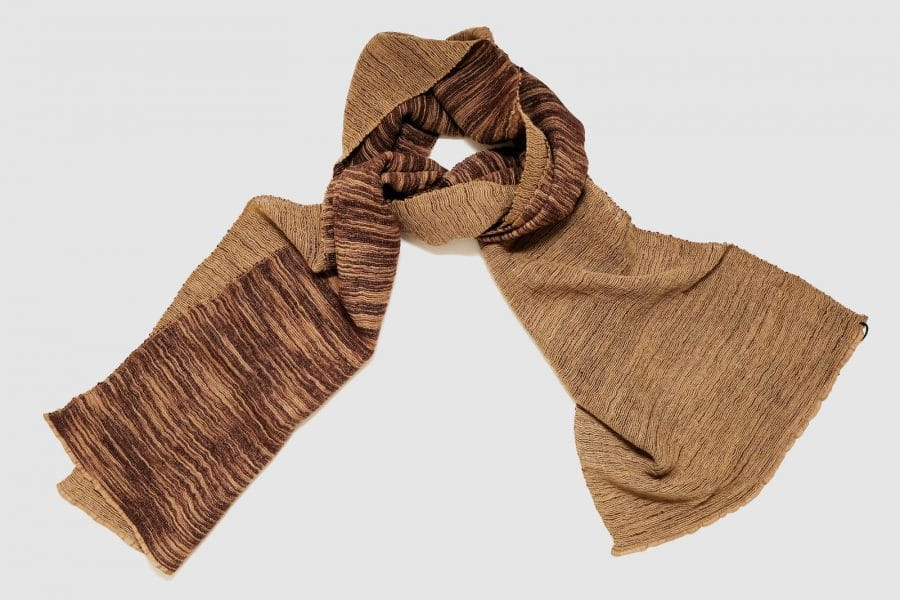 Handmade Cashmere Scarf Indian Red Brown Natural Dyes