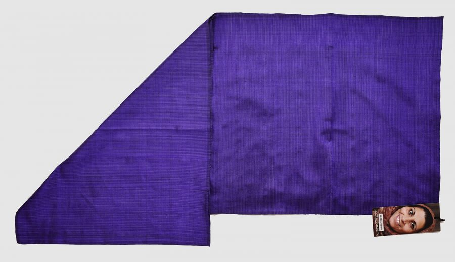 Handmade Pure Silk Scarf Purple Natural Dyes