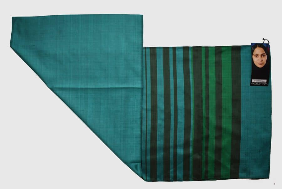 Handmade Silk Scarf Green using Natural Dyes