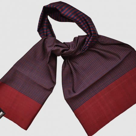 Handmade Silk Scarf Cherry Red Brown