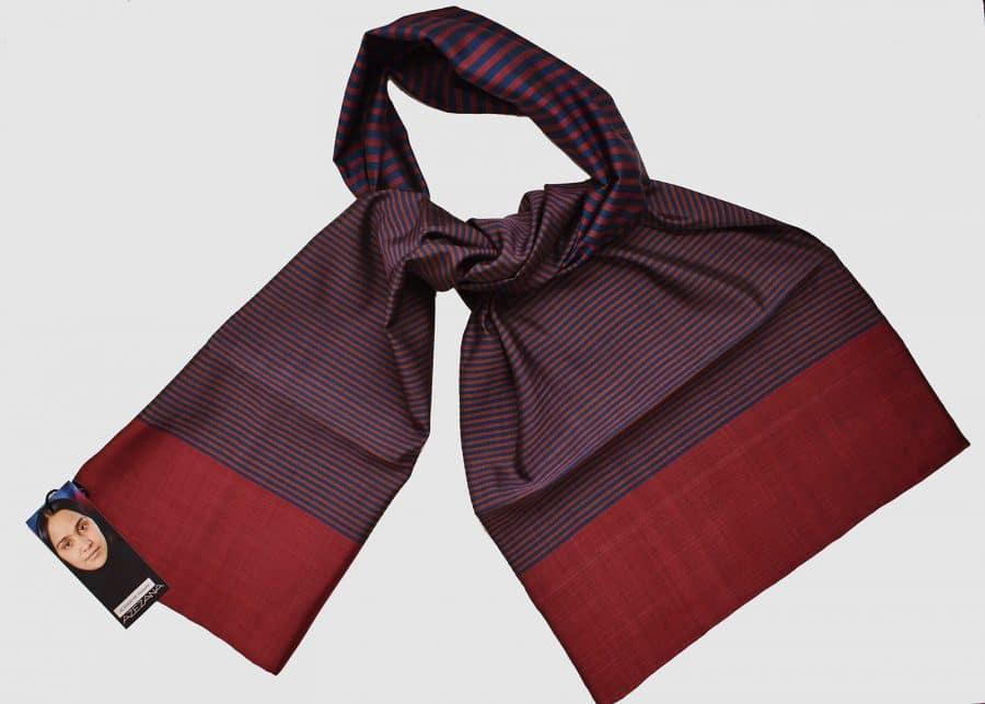 Handmade Silk Scarf Cherry Red Brown