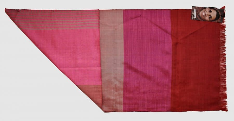 Handmade Silk Scarf Pink Natural Dyes