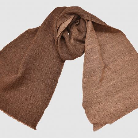 Handmade Cashmere Silk Scarf Brown Natural Dyes