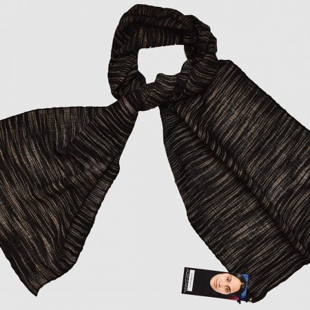 Handmade Cashmere Silk Scarf Black Natural Dyes